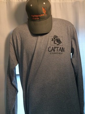 Long Sleeve Gray Front Dallasfishingcharters